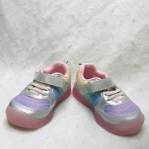 stride rite size 6 Sabina rainbow pastel sneakers
